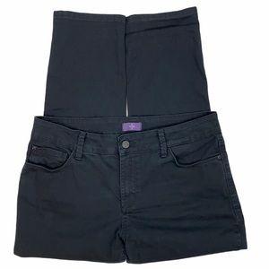 NYDJ Petite Black 5 Pocket Ankle Jeans